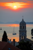 Adriatic Sunset, Cavtat, Dubrovnik Riviera, Dalmatian Coast, Dalmatia, Croatia, Europe Photographic Print by Frank Fell