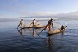 Intha Leg-Rower Fishermen, Inle Lake, Shan State, Myanmar (Burma), Asia Photographic Print by Stuart Black