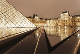 The Louvre and Pyramid, Paris, Ile De France, France, Europe Photographic Print by Markus Lange