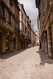 A Narrow Street with Half Timbered Houses in the Old City of Dijon, Burgundy, France, Europe Photographic Print by Julian Elliott
