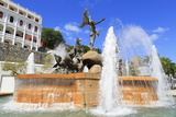 La Princesa Fountain in Old San Juan, Puerto Rico, Caribbean Photographic Print by Richard Cummins