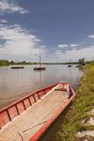 Traditional Boats on the River Loire at Chaumont-Sur-Loire, Loir-Et-Cher, Centre, France, Europe Photographic Print by Julian Elliott