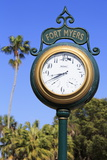 Clock in the Waterfront District, Fort Myers, Florida, United States of America, North America Photographic Print by Richard Cummins