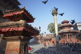 Durbar Square, UNESCO World Heritage Site, Kathmandu, Nepal, Asia Lámina fotográfica por Ian Trower