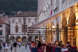 Pred Dvorom, People at Cafe at Dusk, Dubrovnik, Croatia, Europe Photographic Print by John Miller