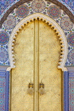 Royal Palace Door, Fes, Morocco, North Africa, Africa Fotografisk tryk af Doug Pearson