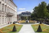 Mirabell Garden and Hohensalzberg Fortress Photographic Print by Markus Lange