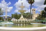 Fountain in National Heroes Square, Bridgetown, Barbados, West Indies, Caribbean, Central America Photographic Print by Richard Cummins