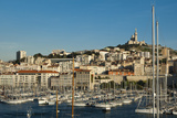Vieux Port and Notre Dame De La Garde Church Photographic Print by Marco Pavan