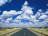 Road Leading to the Hoizon, Namibia, Africa Photographic Print by Lee Frost