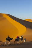 Tourists on Camel Safari, Sahara Desert, Merzouga, Morocco, North Africa, Africa Photographic Print by Doug Pearson