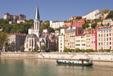 Eglise Saint George and Vieux Lyon on the Banks of the River Saone Photographic Print by Mark Sunderland