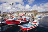 Fishing Boats at the Old Port of Puerto De Mogan Stampa fotografica di Markus Lange