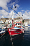 Fishing Boat at the Old Port of Puerto De Mogan Photographic Print by Markus Lange