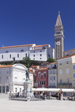 Old Town with Tartini Square and the Cathedral of St. George, Piran, Istria, Slovenia, Europe Photographic Print by Markus Lange