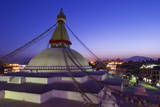 Boudhanath Stupa at Sunset, UNESCO World Heritage Site, Kathmandu, Nepal, Asia Photographic Print by Peter Barritt