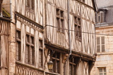 A Half Timbered House in the Old Part of Dijon, Burgundy, France, Europe Photographic Print by Julian Elliott