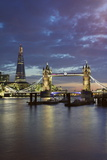 The Shard and Tower Bridge on the River Thames at Night, London, England, United Kingdom, Europe Photographic Print by Stuart Black