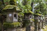 Stone Lanterns, Nara, Kansai, Japan, Asia Photographic Print by Michael Runkel