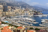 High Angle View of Monaco and Harbour, Monaco, Mediterranean, Europe Photographic Print by Amanda Hall