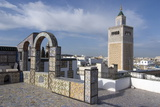 View over the Medina of Tunis Towards the Main Mosque, Tunisia, North Africa, Africa Stampa fotografica di Ethel Davies