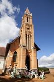 Local Church in Ambohismahasoa, Central Highland, Madagascar, Africa Photographic Print by Lynn Gail