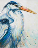 New Blue Heron I Print by Patricia Quintero-Pinto