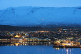 Akureyri Waterfront, Iceland, Polar Regions Photographic Print by Christian Kober