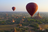 Dawn over Ancient Temples from Hot Air Balloon Photographie par Stuart Black