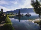 Hindu Temples at Lake Bratan, Pura Ulu Danau, Bali Photographic Print by Alain Evrard