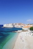 Banje Beach, Old Harbour and Old Town, UNESCO World Heritage Site Photographic Print by Markus Lange