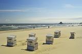 Beach Chairs, Usedom, Baltic Sea, Mecklenburg-Vorpommern, Germany, Europe Photographic Print by Jochen Schlenker