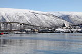 Tromso Bridge and the Cathedral of the Arctic in Tromsdalen, Troms, Norway, Scandinavia, Europe Photographic Print by David Lomax
