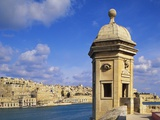 Watchtower, La Gardiola, Senglea, Malta Photographic Print by Guy Thouvenin