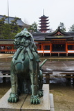 Lion Statue, Itsukushima Shrine, UNESCO World Heritage Site, Miyajima, Japan, Asia Photographic Print by Michael Runkel