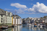Old Fishing Warehouses in Harbour, Alesund, Sunnmore, More Og Romsdal, Norway, Scandinavia, Europe Photographic PrintDoug Pearson
