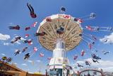 Swing Carousel, Cannstatter Wasen (Volksfest), Stuttgart, Baden Wuerttemberg, Germany, Europe Photographic Print by Markus Lange