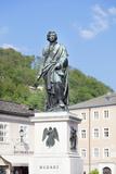 Mozart Monument, Mozartplatz Square, Salzburg, Salzburger Land, Austria, Europe Photographic Print by Markus Lange