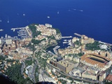 Aerial View of Monaco in the Summer Photographic Print by Jeremy Lightfoot
