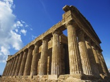 Temple of Concord, Agrigento, Sicily, Italy Photographic Print by Ken Gillham