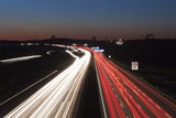 Rush Hour on the A8 Autobahn, Stuttgart, Baden Wurttemberg, Germany, Europe Photographic Print by Markus Lange