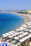 Baie Des Anges and Beach Photographic Print by Amanda Hall