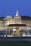 Neues Schloss Castle and Fountain at Schlossplatz Square Photographic Print by Markus Lange
