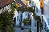 Wooden Houses and Cobbled Streets in Stavanger's Old Town Photographic Print by Doug Pearson