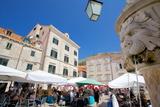 Market, Gunduliceeva Poljana, Dubrovnik, Dalmatia, Croatia, Europe Photographic Print by Frank Fell