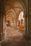 Looking Down an Aisle in the Church of Notre Dame, Saint Pere, Yonne, Burgundy, France, Europe Photographic Print by Julian Elliott