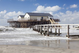 Stilt Houses in the Stormy Sea Photographic Print by Markus Lange