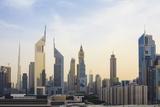 Dubai Cityscape with Burj Khalifa and Emirates Towers, Dubai, United Arab Emirates, Middle East Photographic Print by Amanda Hall