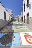 Ceramic Tiles Showing Parts of the Canary Islands Photographic Print by Markus Lange