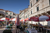Market in Gundulic's Square, Dubrovnik, Croatia, Europe Photographic Print by John Miller